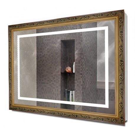 Зеркало в раме с подсветкой 7070